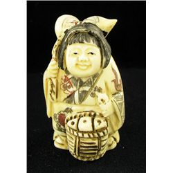 Chinese Handcarved Bone Netsuke (CLB-766)