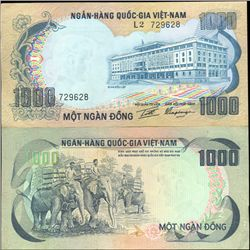 1972 Vietnam 1000 Dong Crisp Circulated (CUR-06288)