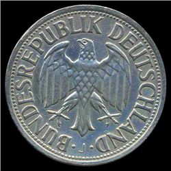 1962J Germany 1 Mark Hi Grade RARE (COI-8157)