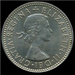 1959 British QE2 1 Shilling Rare Scottish Rev MS63 (COI-8954)