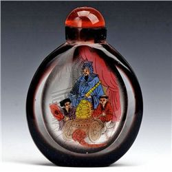 Antique Chinese Peking Glass Snuff Bottle (ANT-1427)