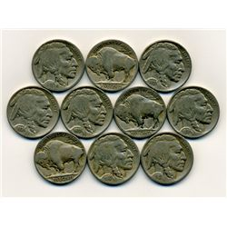 10 US Buffalo Nickel Coin Lot (COI-222C)