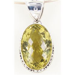 175twc Lemon Citrine Sterling Pendant (JEW-3359)