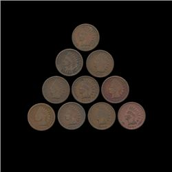 1894 Indian Cent Lot of 10 Better Circ. (COI-8799)