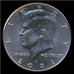 2001D JFK 50c MS67 (COI-8721)