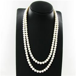 "White South Sea Pearl Double Strand 42"" (JEW-2837)"