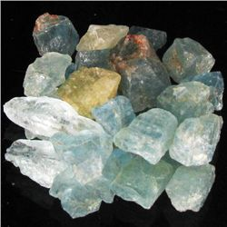 25ct Rough Blue Green Aquamarine (GMR-1101)