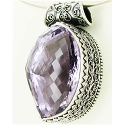 310twc Purple Pink Amethyst Sterling Pendant (JEW-3338)