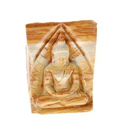Hand Carved Petrified Wood Thai Buddha (CLB-199)