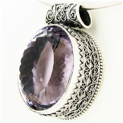390twc Purple Pink Amethyst Sterling Pendant (JEW-3337)