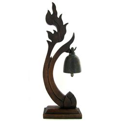 Thai Temple on Handcrafted Teak Stand (DEC-479)