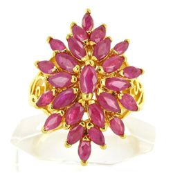 4ct Natural Ruby Ladies Gold Vermeil Ring (JEW-1487) (JEW-1487)
