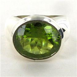 68.72twc Peridot Sterling Ring (JEW-2816)