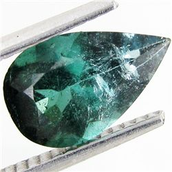 1.8ct Blue Green Cuprian Tourmaline Pear (GEM-41175)