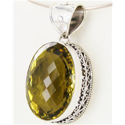 265twc Lemon Citrine Sterling Pendant (JEW-3361)