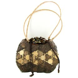 Well Crafted Coconut Shell Handbag (ACT-283)