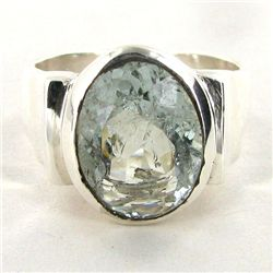 52.08twc Aquamarine Sterling Ring (JEW-2689)