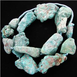 1640ct Natural Turquoise Chunk Strand (JEW-3464)