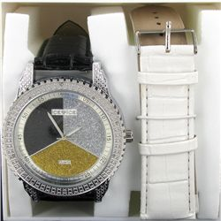 New Ice Time Mens Diamond Bezel Watch (WAT-337)