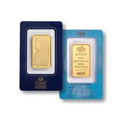 1 oz Pamp Suisse Gold Ingot on Assay Card
