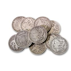 Lot of 10 Assorted Date and Grade Morgans