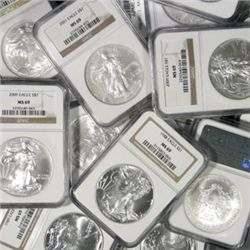 Lot of 10 MS 69 SILVER EAGLE SLABS