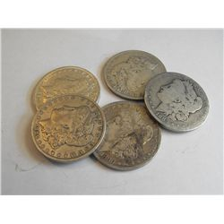 Lot of 10 Early Date Morgans 19th Century-