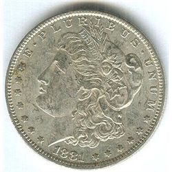 1881-O Mint State Morgan Silver Dollar
