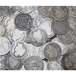 Lot of 10 Barber Dimes- From Photo-