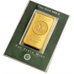 1oz Perth Gold Bullion Ingot .9999