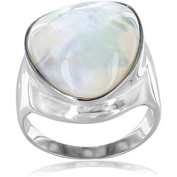 Stainless Steel Mother of Pearl Ring