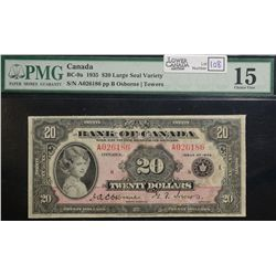 1935 $20.00, BC-9a, PMG F-15, Large Seal.