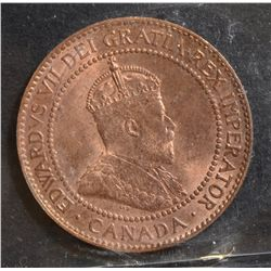 1909 Cent, ICCS MS-65 Red.