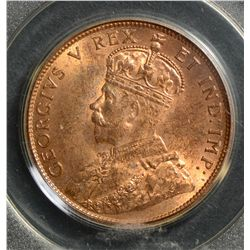 1911 Cent, PCGS MS-64; Red & Brown.