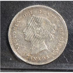 1875H 5 Cents, CCCS F-12; Small Date, Corrosion, Damaged, Bent. Still a missing coin in many collect