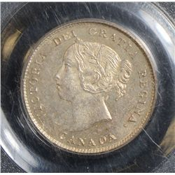 1884 5 Cents, PCGS MS-63, brilliant and lustrous. Very rare.