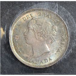 1893 5 Cents, ICCS MS-65 PQ+, superbly toned. Rare this nice.