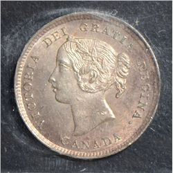 1894 5 Cents, ICCS MS-63, lightly toned. Key date.