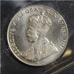 1927 5 Cents, ICCS MS-65, fully struck with great lustre. Rare this nice.