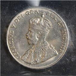1929 5 Cents, ICCS MS-65, well struck. Marks free. Rare this nice.