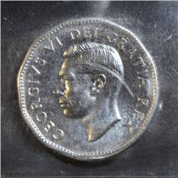 1951 5 Cents, ICCS MS-60 High Relief, Scratch. Reflective surfaces. Rare grade.