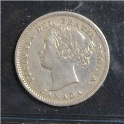 1858 10 Cents, ICCS VF-30.