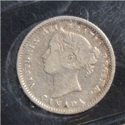 1880H 10 Cents Obverse 1, 1902 & 1915, all ICCS F-15. Lot of 3 coins.