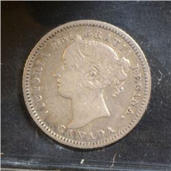 1883H & 1915 10 Cents, both ICCS F-15.  Lot of 2 coins.