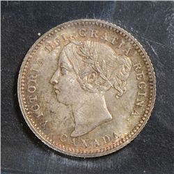 1891 21 Leaves 10 Cents, ICCS MS-65 PQ+, great strike with superb toning. Very flashy and rare this