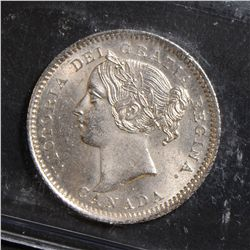 1901 10 Cents, ICCS MS-63. Frosty white.