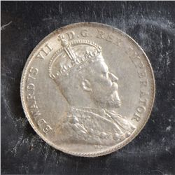 1902 10 Cents, ICCS MS-64. Full white.