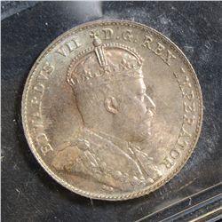 1902 10 Cents, ICCS MS-64, attractively toned. Very nice example.