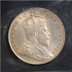 1904 10 Cents, ICCS MS-62, lightly toned. A tough date.