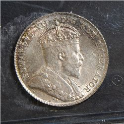 1907 10 Cents, ICCS MS-62.